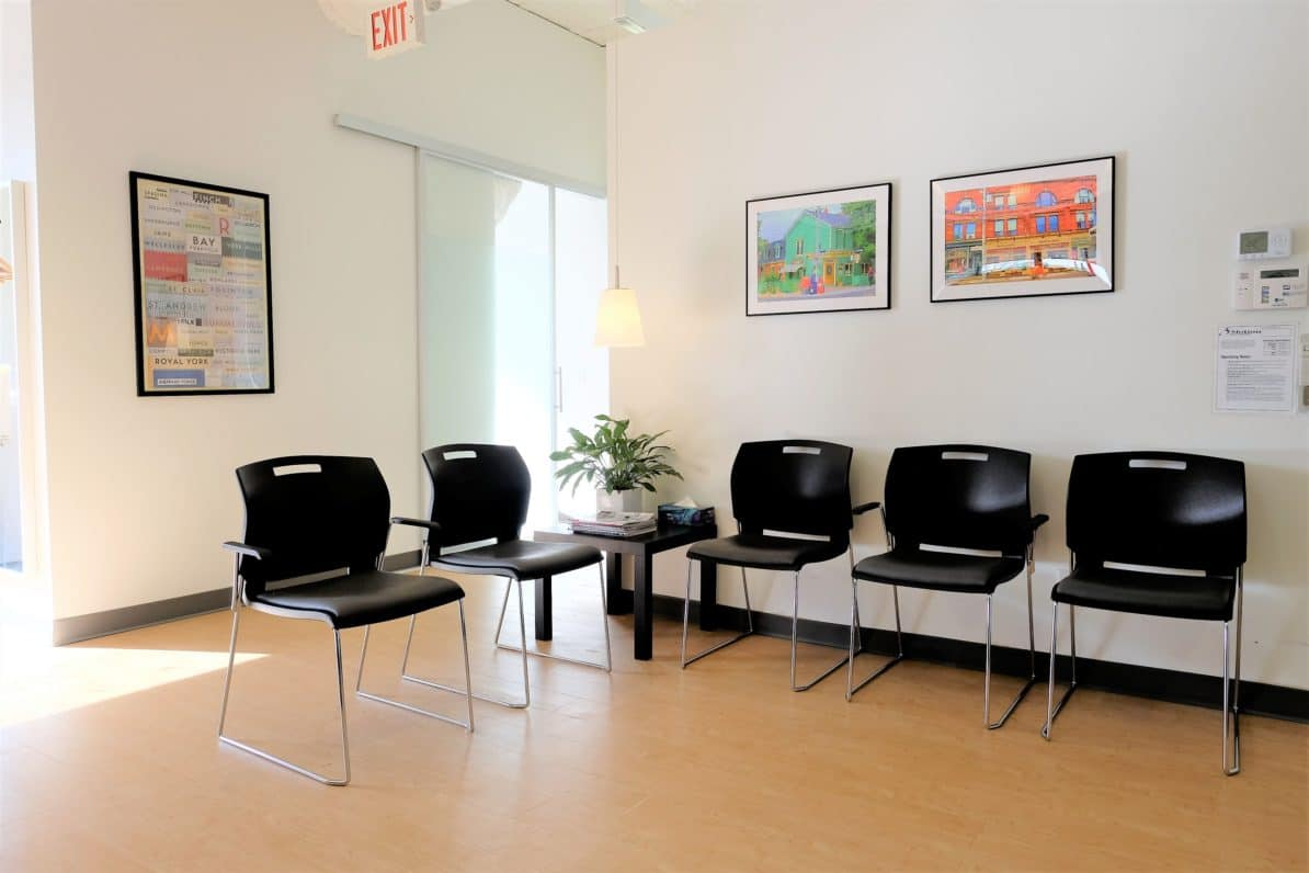 Physiotherapy Clinic Waiting Room at Danforth & Chester