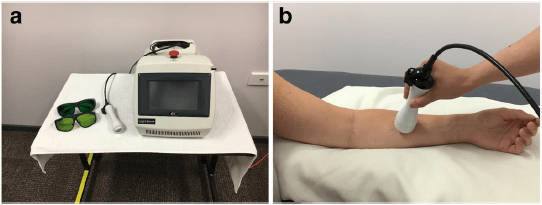 Lymphedema laser therapy example device