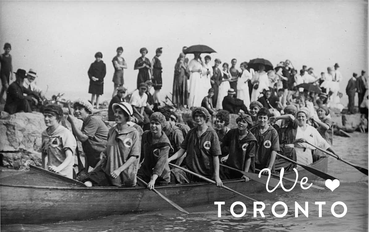 We Love Toronto - picture of women in a canoe in early 1900s