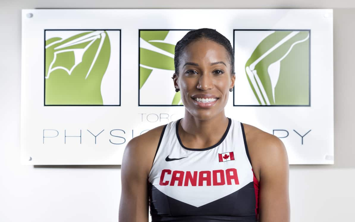 Olympian Phylicia George at Toronto Physiotherapy