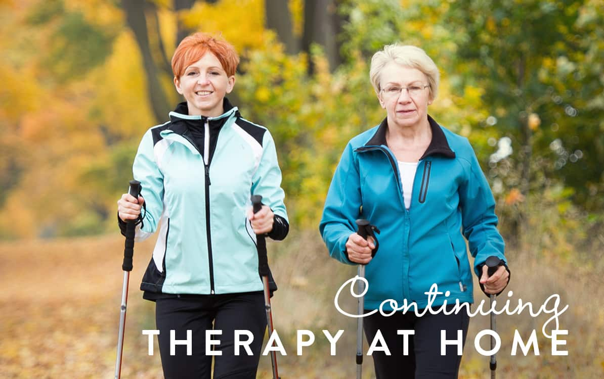 Continuing therapy at home - self-help